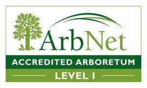 ArbNet Accredited Arboretum, Level 1 logo.