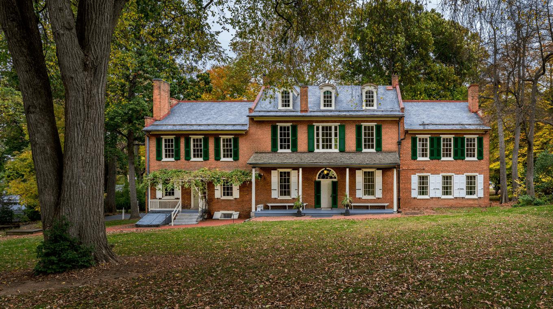 President James Buchanan's Wheatland in autumn.